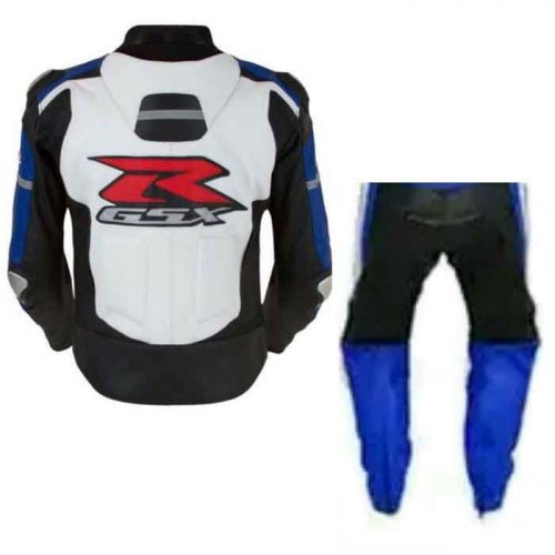 SUZUKI GSXR MEN'S RACING MOTORCYCLE LEATHER SUIT MotoGp Collection Free Shipping