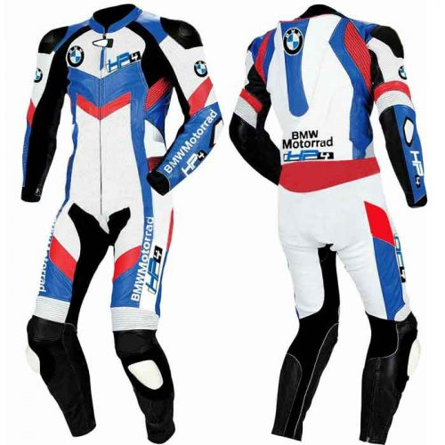 BMW Racing Motorcycle Leather cowhide suit MotoGp Collection Free Shipping