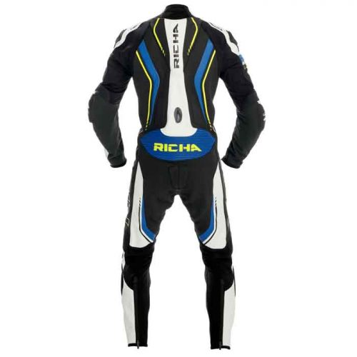 Richa Road Race Blue Fluo Leather Motorcycle Suit MotoGp Collection Free Shipping
