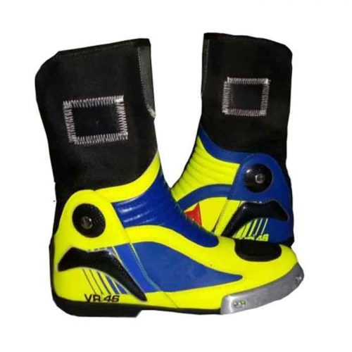 Valentino rossi vr46 Motorcycle Motorbike Sports Leather Boot MotoGp Boots Free Shipping