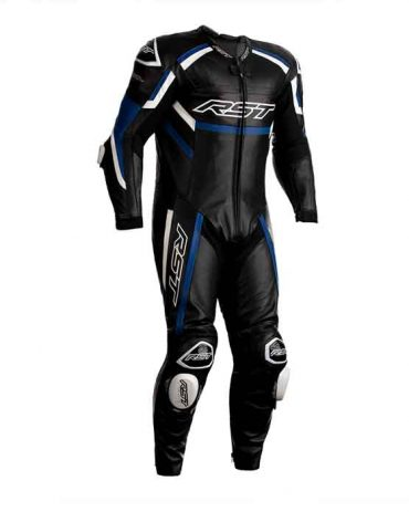 RST Tractech Evo R Motorcycle Leather Suit – Black / Blue / White Motorbike Suits Free Shipping