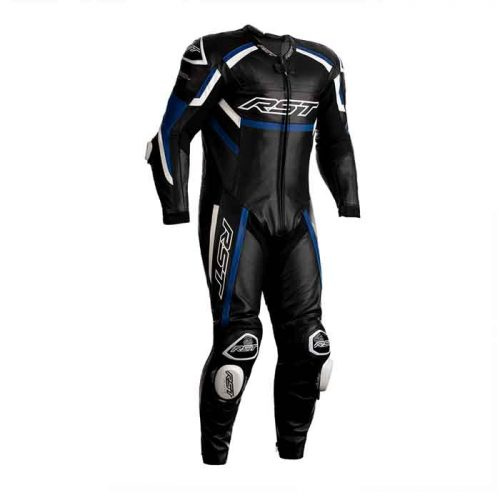 RST Tractech Evo R Motorcycle Leather Suit – Black / Blue / White MotoGp Collection Free Shipping