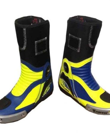 Valentino rossi vr46 Motorcycle Motorbike Sports Leather Boot Motorbike Boots Free Shipping