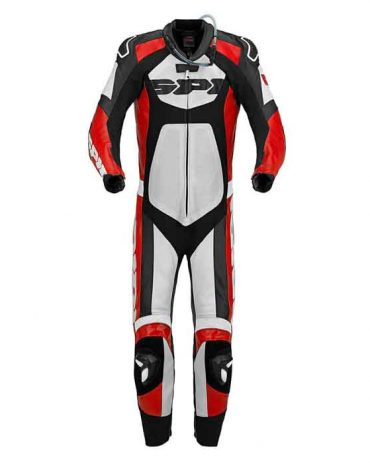 MENS BLACK RED WHITE MOTORCYCLE LEATHER SUIT MotoGp Collection Free Shipping