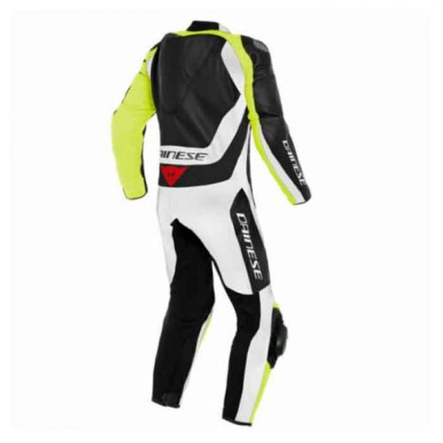 Yellow Black White Motorcycle Racing Leather Suit MotoGp Collection Free Shipping
