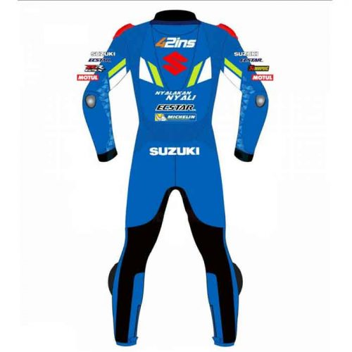 Custom Made Suzuki Motorcycle Leather Racing Suit MotoGp Collection Free Shipping