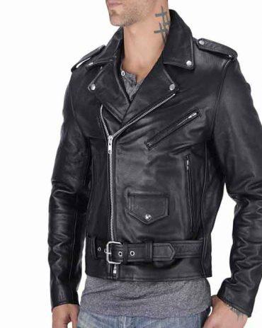 Nomad USA Classic Leather Biker Jacket Motorbike Jackets Free Shipping