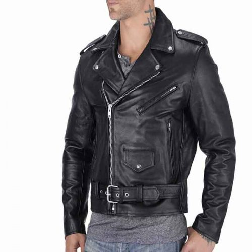 Nomad USA Classic Leather Biker Jacket Motorbike Collection Free Shipping