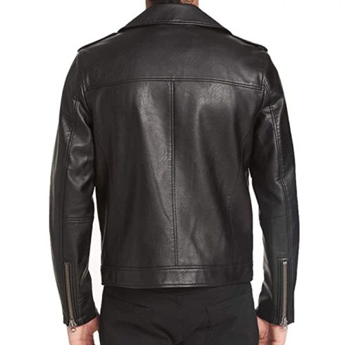 Levi's Men's Faux Leather Motorcycle Jacket Motorbike Collection Free Shipping
