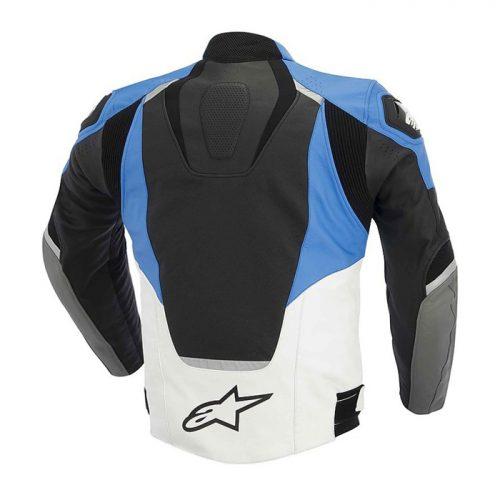 Motorcycle Leather Jacket Alpinestars JAWS LEATHER JACKET White Motorbike Collection Free Shipping