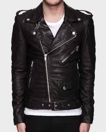 Mens Leather Motorcycle Jacket, Cowhide Leather Biker Jacket Motorcycle Collection Free Shipping