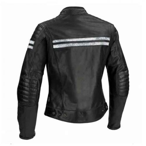 SEGURA STRIPE CE LEATHER LADIES JACKET Motorcycle Collection Free Shipping
