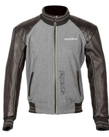 Gray Men's Motorcycle Leather Jacket Motorcycle Collection Free Shipping