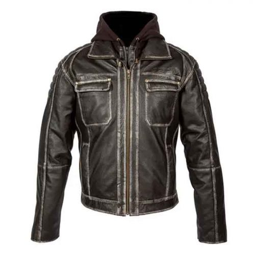 Light Brown Motorcycle Leather Jacket Motorcycle Collection Free Shipping