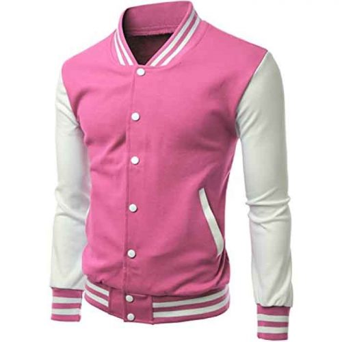 Men's Stylish Color Contrast Long Sleeves Varsity Jacket Fashion Collection Free Shipping