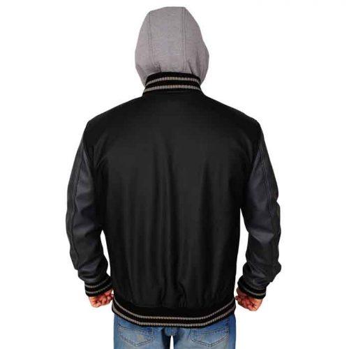 Varsity Black & Grey Hoodie Jacket Fashion Collection Free Shipping