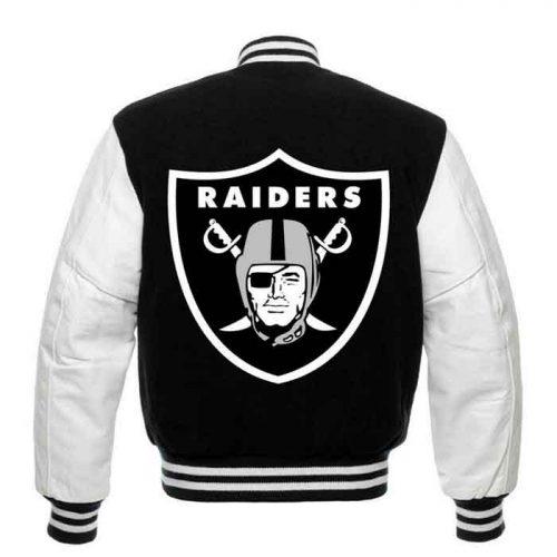 Las Vegas Raiders wool body leather sleeves varsity jacket Fashion Collection Free Shipping