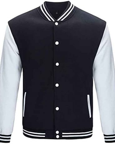 Trifuness Varsity Baseball Jacket with Long Sleeve Banded Collar Fashion Collection Free Shipping
