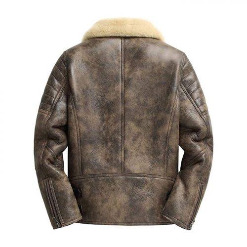 Mens Shearling Jacket Sheepskin Coat Short Leather Jacket Fur Coat Mens Winter Coats B3 Leather Jacket Free Shipping