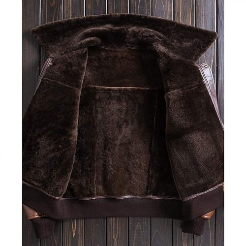 New Mens Brown B3 Sheepskin Shearling Jacket Leather Jacket Mens Winter Coats Lapel Fur Coat B3 Leather Jacket Free Shipping