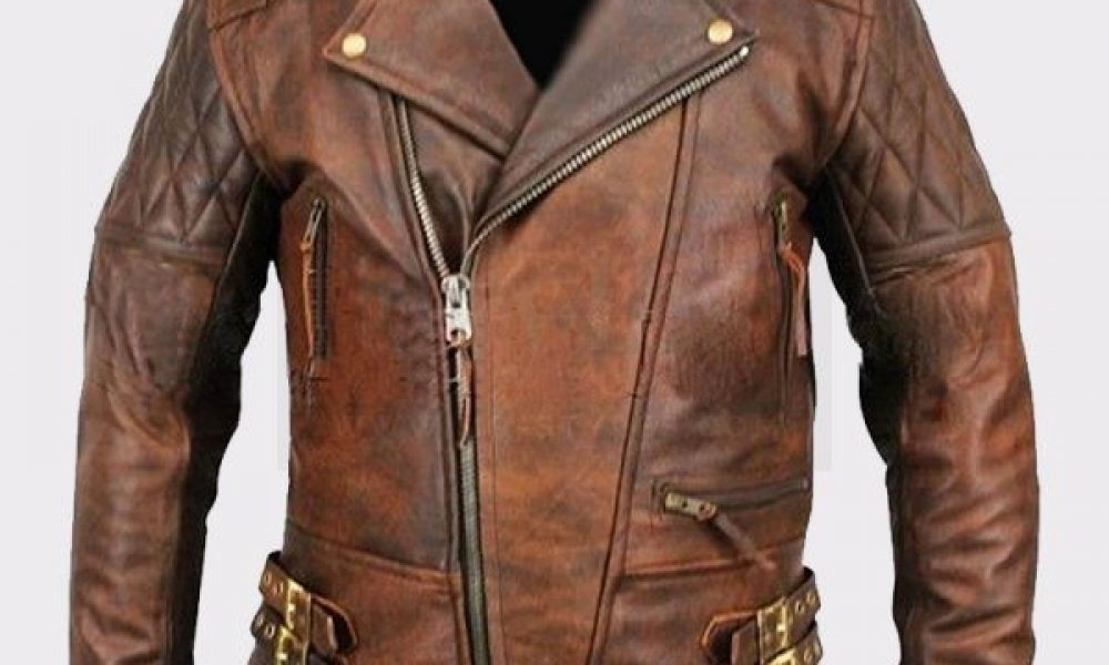 Men's Lambskin Motorcycle Bomber Leather Jacket